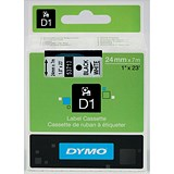 Image of Dymo D1 Tape for Electronic Labelmakers 24mmx7m Black on White Ref 53713 S0720930