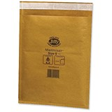 Image of Jiffy Mailmiser No.5 Bubble-lined Protective Envelopes / 260x345mm / Gold / Pack of 50