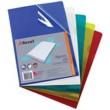Rexel Nyrex Cut Flush Folders / A4 / Assorted / Pack of 25