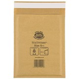 Image of Jiffy Mailmiser No.0 Bubble-lined Protective Envelopes / 140x195mm / Gold / Pack of 100