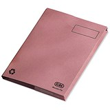 Image of Elba Clifton Back Pocket Flat File / 285gsm / 50mm / Foolscap / Pink / Pack of 25