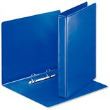 Image of Esselte Presentation Ring Binder / 2 D-Ring / 40mm Spine / 25mm Capacity / A4 / Blue / Pack of 10