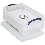 12 Litre Really Useful Storage Box - Clear Strong Plastic