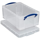 5 Litre Really Useful Storage Boxes - Clear Strong Plastic x3