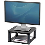 Image of Fellowes Premium Monitor Riser / 5 Heights / 36kg Capacity / Graphite