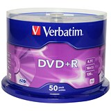 Image of Verbatim DVD+R Spindle - Pack of 50