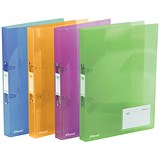 Image of Rexel Ice Ring Binder / 2 O-Ring / 40mm Spine / 25mm Capacity / A4 / Translucent Assorted / Pack of 10