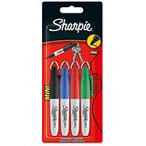 Image of Sharpie Mini Permanent Marker / Fine / Assorted Colours / Wallet of 4