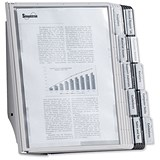 Durable Complete Display Wall Unit / 10 Index Tabs with 5 Black & 5 Grey Panels / A4