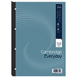 Image of Cambridge Refill Pad / A4 / Feint / Ruled with Margin / 4 Holes / 160 Pages / Pack of 5