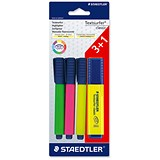 Image of Staedtler Textsurfer Classic Highlighter / Assorted Colours / Pack of 3 + 1 FREE