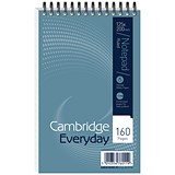 Cambridge Headbound Wirebound Notebook / 125x200mm / Ruled / 160 Pages / Pack of 10
