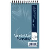 Cambridge Headbound Wirebound Notebook / 125x200mm / Ruled / 300 Pages / Pack of 5