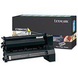 Image of Lexmark C780H1YG High Yield Yellow Laser Toner Cartridge
