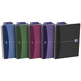 Image of Oxford Metallics Wirebound Notebook / A5 / Ruled / 180 Pages / Random Colour / Pack of 5