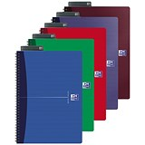 Image of Oxford Office Soft Cover Wirebound Notebook / A5 / Random Colour / Pack of 5