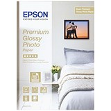Epson A4 Premium Glossy Photo Paper / White / 255gsm / Pack of 15