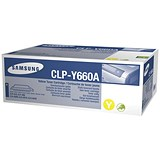 Image of Samsung CLP-Y660A Yellow Laser Toner Cartridge