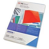 Image of GBC Binding Covers / 250gsm / Gloss Blue / A4 / Pack of 100