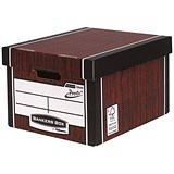 Image of Fellowes Premium 725 Classic Bankers Box / Woodgrain / Pack of 10