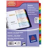 Image of Avery ReadyIndex Dividers / A-Z / Multicoloured Mylar Tabs / A4 / White