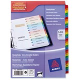 Image of Avery ReadyIndex Dividers Card with Mylar Tabs / A4 / 1-31