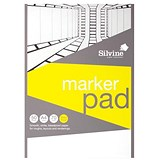 Image of Silvine Marker Pad / A4 / Bleedproof / 70gsm / 50 Sheets / White