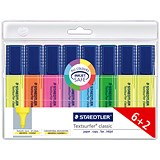 Staedtler Textsurfer Classic Highlighter / Assorted Colours / Pack of 6 + 2 FREE
