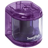 Image of Swordfish Electric Pencil Sharpener / Battery Operated / Purple