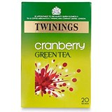 Image of Twinings Infusion Green Tea and Cranberry Tea Bags / Individually-wrapped / Pack of 20