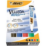 Image of Bic Velleda 1701/1704 Whiteboard Marker / Bullet Tip / Assorted Colours / Pack of 4