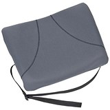 Image of Fellowes Slimline Back Support / Soft-touch Fabric with Adjustable Strap / Graphite