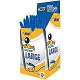 Bic Cristal Large Ballpoint Pen / Broad Nib / Blue / Pack of 50