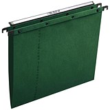 Image of Elba Ultimate A20 Suspension Files / V Base / 15mm Capacity / Foolscap / Green / Pack of 25