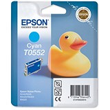 Image of Epson T0552 Cyan Inkjet Cartridge