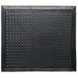 Floortex Rubber Mat / Anti Fatigue & Anti Slip / Bevelled Edge / 710x780mm / Ripple Pattern