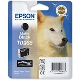 Epson T0968 Matte Black UltraChrome K3 Inkjet Cartridge