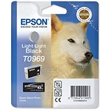 Epson T0969 Light Light Black UltraChrome K3 Inkjet Cartridge