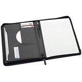 Image of 5 Star Zipped Conference Folder Portfolio / W248xH329mm / A4 / Black