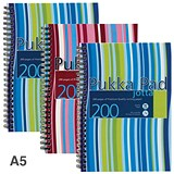 Pukka Pad Jotta Wirebound Notebook / A5 / Ruled / 200 Pages / Assorted Colours / Pack of 3