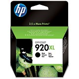Image of HP 920XL Black Ink Cartridge