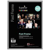5 Star Silver Photo Frame - Back Loading - Clear Front - A3
