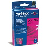 Image of Brother LC1100M Magenta Inkjet Cartridge