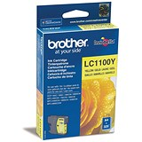 Image of Brother LC1100Y Yellow Inkjet Cartridge