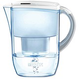 Image of Brita Fjord Water Filter with Pour-through Flip-top Lid and Cartridge / 2.6 Litre / White