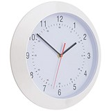 Wall Clock With Coloured Case Diameter 300mm White