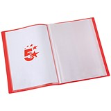 Image of 5 Star Soft Cover Display Book / 20 Pockets / A4 / Red