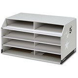 Image of 5 Star Document Sorter with 8 Compartments - Grey