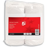 5 Star Kitchen Towels - 2 Rolls of 55 Sheets