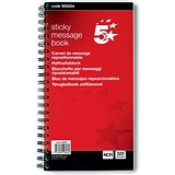 5 Star Wirebound Carbonless Telephone Message Book - Sticky / 320 Notes / 80 Pages / 275x150mm